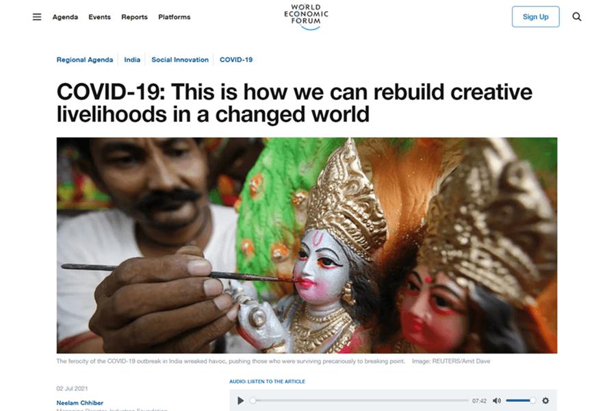 WEF article screenshot