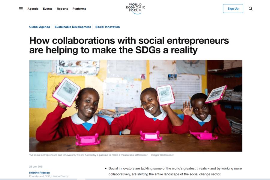 Screenshot of Collaborating with social entrepreneurs