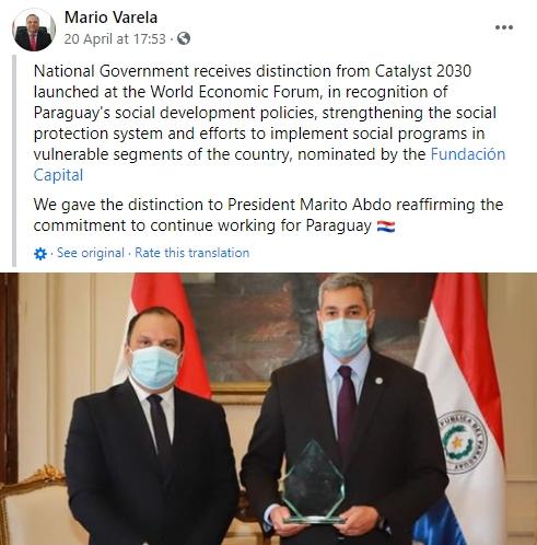 Paraguay Award Reaction