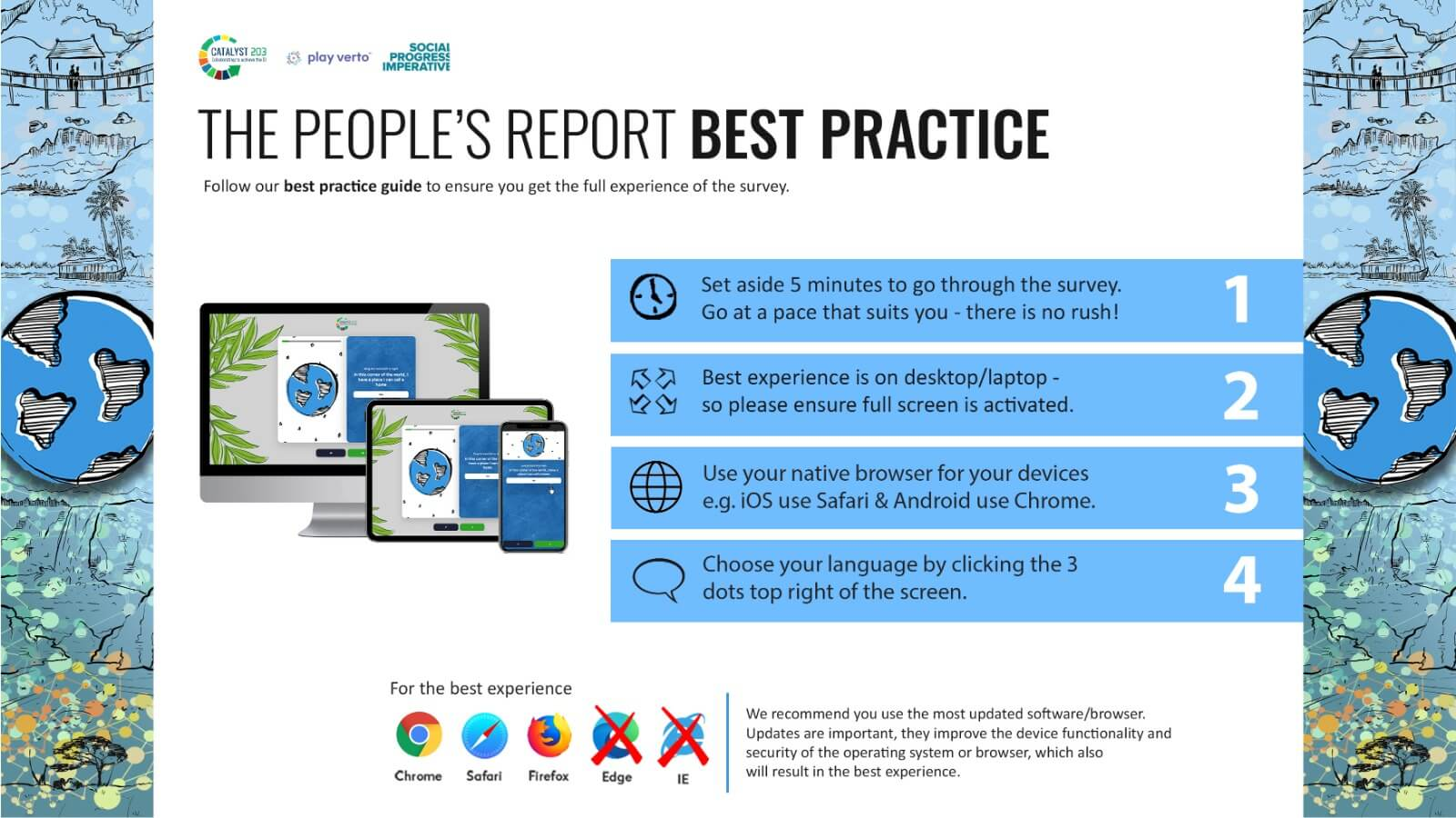 Best practises for taking the survey infographic